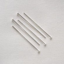 "Silver Plated 1"" (25mm) Headpin - 50"